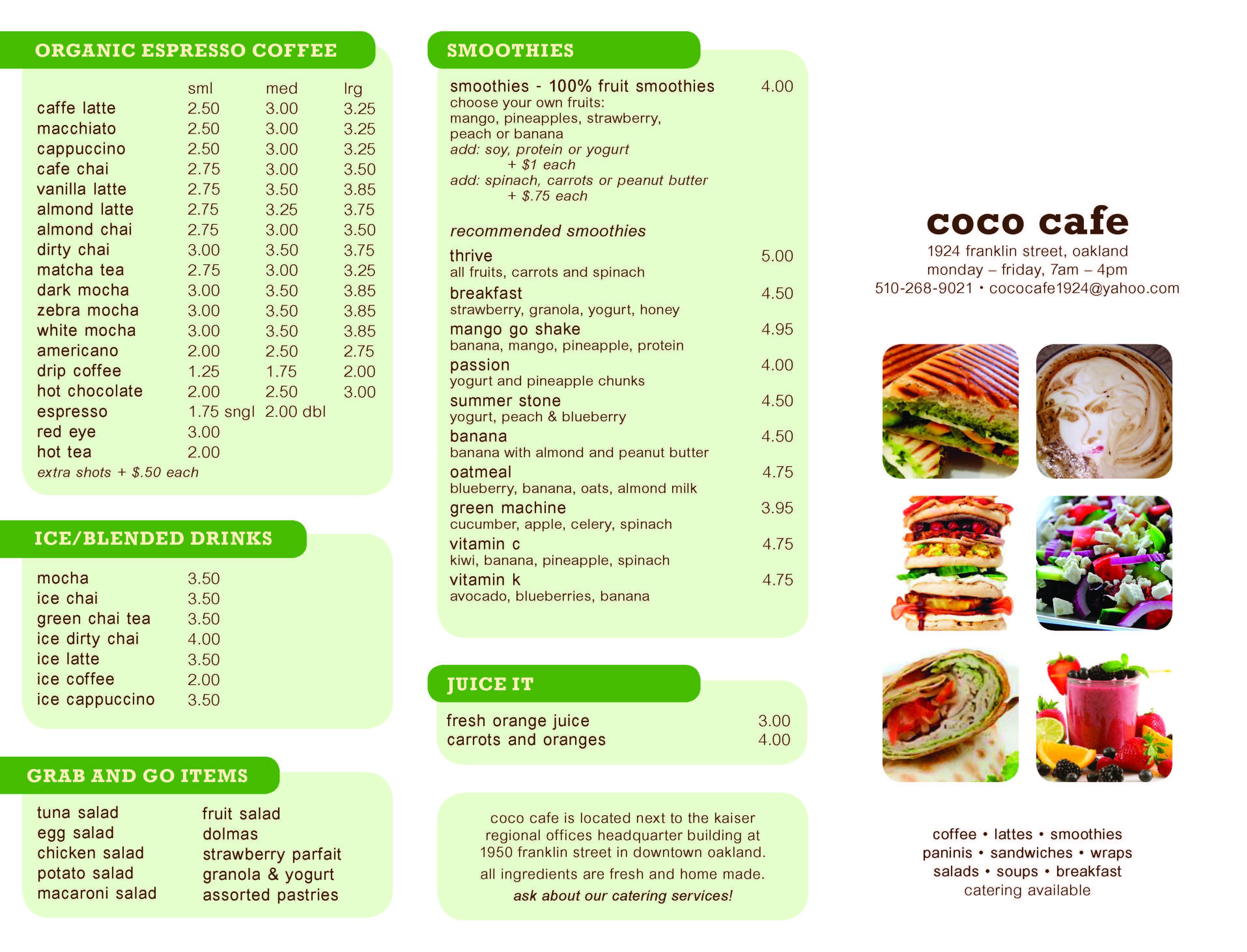 Cafe Brochure, 2015