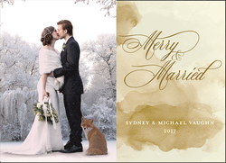 Merry & Merried Holiday Card