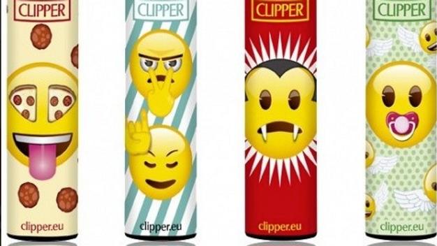 Clipper Lighter Assorted Emojin