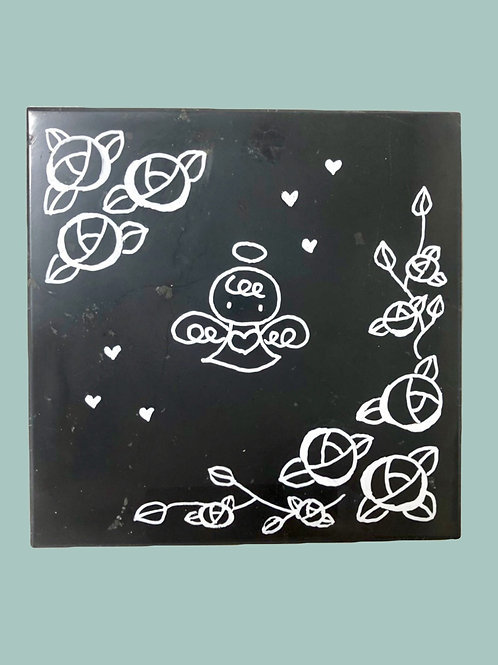Tile (with drawings and quilted cover)