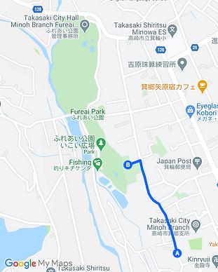 Walking map to Misato Fureai Park.png