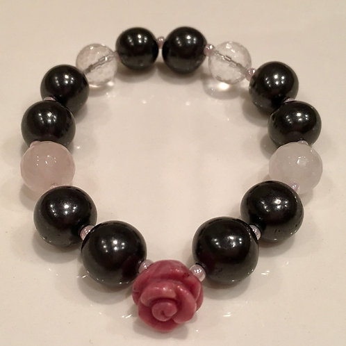 Bracelet (S) Rhodonite rose series