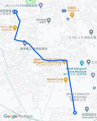 Walking map to Maneki no Yu.png