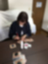 Midori painting tiles.JPG