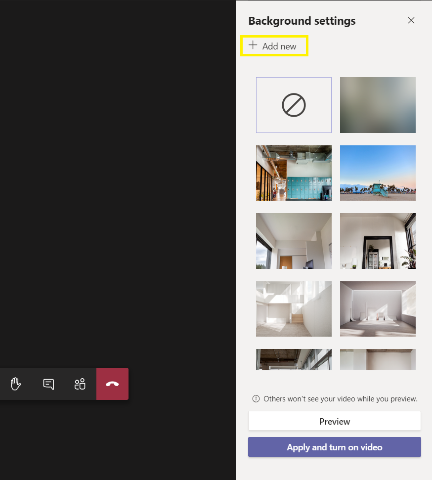 Add new virtual background to microsoft teams