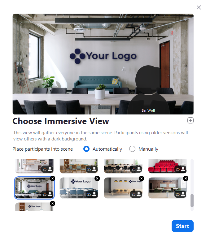 Choose immersive view