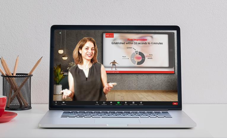 slides as a virtual background