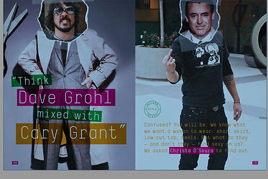 """""""THINK DAVE GROHL MIXED WITH CARY GRANT"""""""