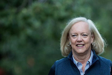 MEG WHITMAN, ONE DOTCOM THAT'S STILL FULL OF BEANS