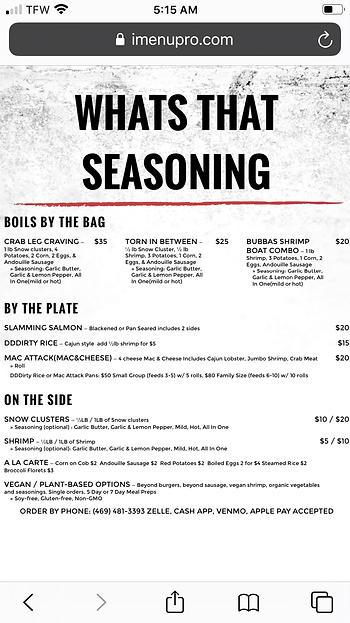 Whats That Seasoning