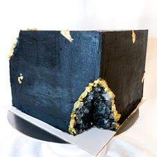 Black Box Geode Cake