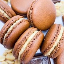 Peanut Butter Chocolate Macarons