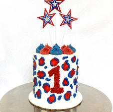 4th of July Cheetah Cake