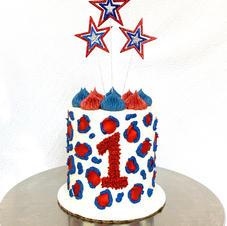 4th of July Cheetah Cake