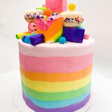 Rainbow Marshmallow Cake
