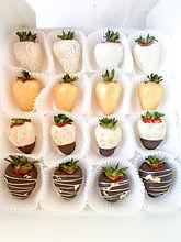 White, Chocolate & Gold Strawberries