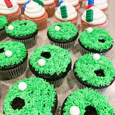 Golf + LEGO Cupcakes
