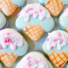 Cotton Candy Ice Cream Macarons