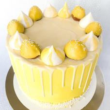 Yellow Strawberry Cake