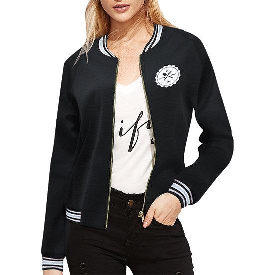 All Over Print Bomber Jacket for Women