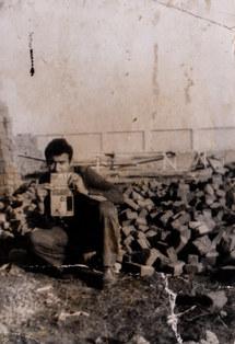 احمد زرعي يصور، في السبعينات