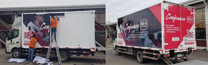 Rotulación vehicular con gráficas de altas dimensiones para todo tipo de vehículos y camiones Gráfica publicitaria Imprenta publicitaria