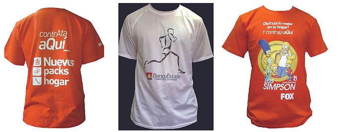 Poleras Maraton Dry-Fit Publicidad Corporativa Prendas Corporativas Estampados Impresiones Logotipos Regalos Corporativos