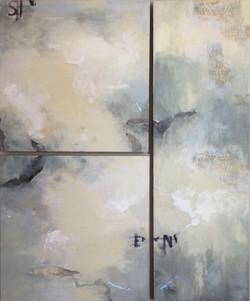 Three Panel Encaustic