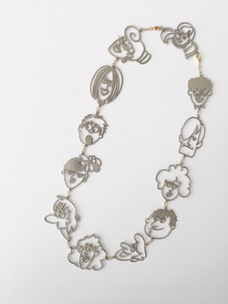 Silver Cartoon Medium Necklace