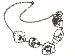 Cartoon Five Head Necklace
