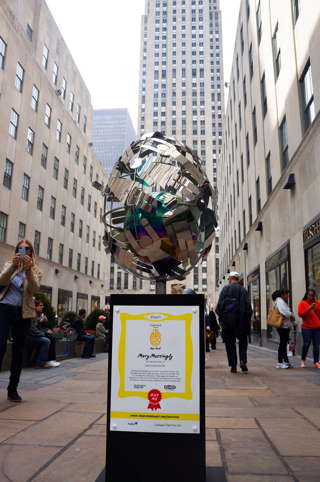 Egg installation Rockefeller Plaza
