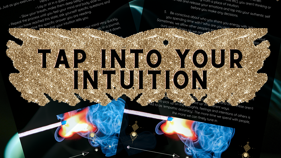 Tap Into Your Intuition Ebook- Develop your intuition & psychic abilities.
