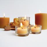 Organic Beeswax Tea Light Candles