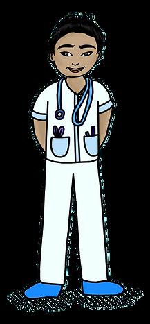 Asian male space nurse