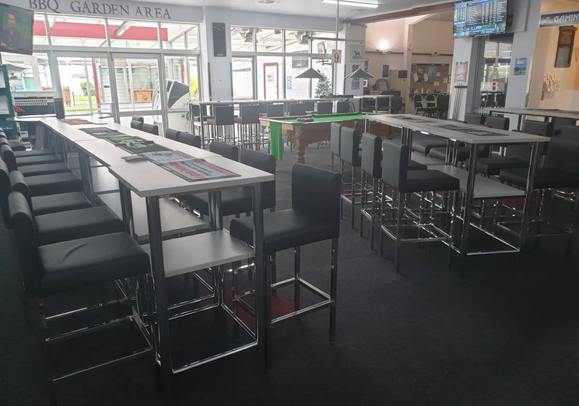 Stunning new bar leaners and stools