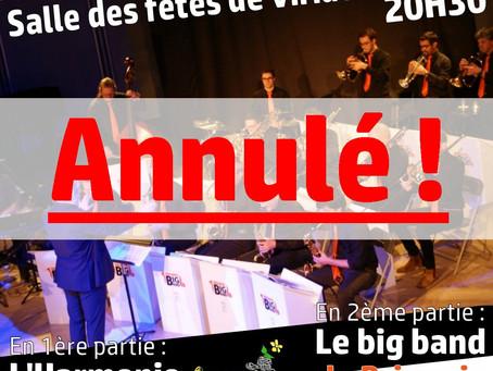 Annulation | Concert annuel | Samedi 4 avril 2020