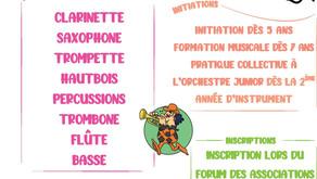 Rejoignez notre école de musique !                   Inscriptions et tarifs