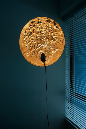 Beautiful gold standing lamp