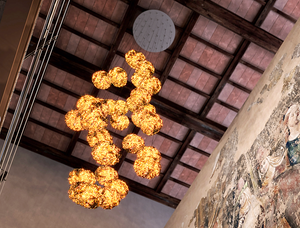 Gold Moon Chandelier by Catellani & Smith