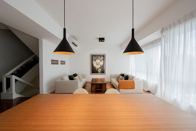 Two large hanging lamps