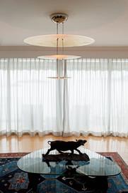 Modern three tier hanging lamp