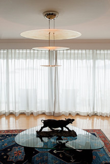Modern three tier hanging lamp