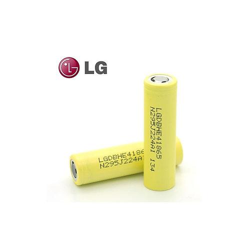 LG HE4 18650 20A/35A, 2500 mAh, Flat