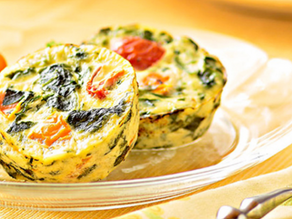 Kale, Tomato & Goat Cheese Egg Muffins