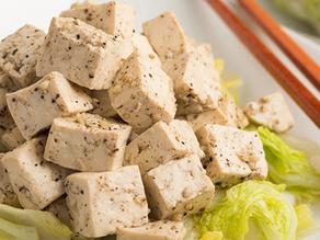 Garlic Black Pepper Tofu with Napa Cabbage