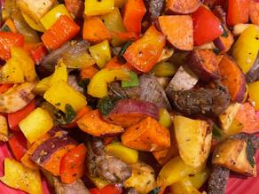 Stake Bites with Sweet Potatoes