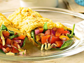 Spinach & Pepper Jack Breakfast Burrito