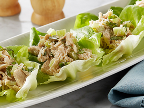 Basil Tuna Salad Lettuce Wrap