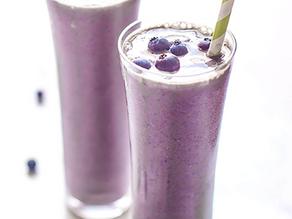 High Protein Blueberry Kale Smoothie