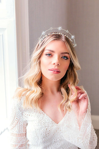 Celestial Wedding Crown in silver or gold - Aurora